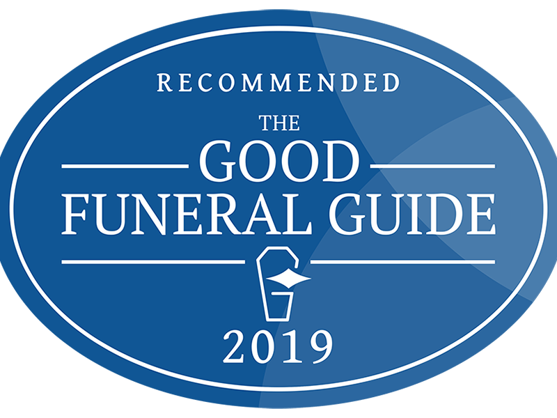 Recommended by The Good Funeral Guide 2019